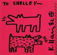 two barking dogs by keith haring