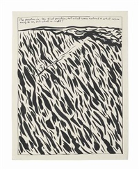 untitled (the question is) by raymond pettibon