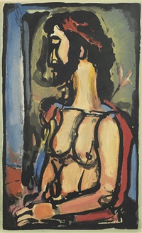 ecce homo, pl. 7, from passion by georges rouault