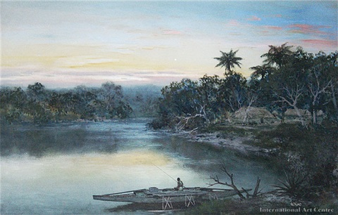 river sunset by william joseph wadham