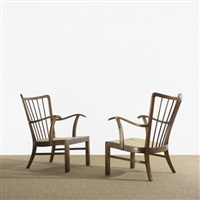 lounge chairs (pair) (model 1628) by soren hansen