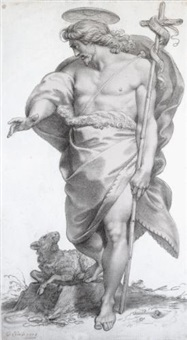 standing figure of st. john the baptist by giuseppe cades