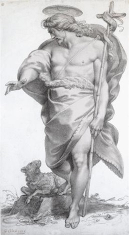 standing figure of st john the baptist by giuseppe cades