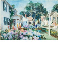 a cape garden, commercial st., provincetown, massachusetts by john whorf