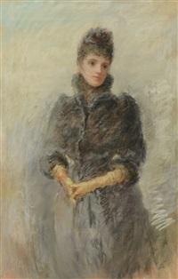 portrait of an elegant woman by william robert allan