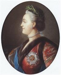 portrait de catherine ii de russie by jean voilles