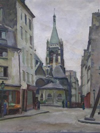 la rue de l'église by armand jacques assus