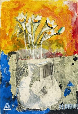 Lilien Auf Blauem Tisch By Helen Dahm On Artnet