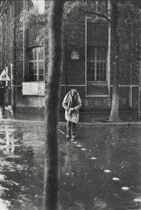 alberto giacometti (in the rain) by henri cartier-bresson
