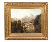 berchtesgaden mit watzmann by theodor (wilhelm t.) nocken