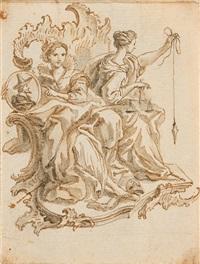 allegorie der künste und wissenschaften by johann esaias nilson