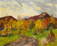 paysage transylvanien by lidia agricola weifl