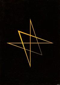 sechszackiger stern: gelb und schwarz by hermann glöckner
