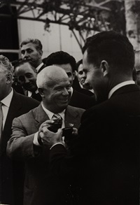 nikita khrushchev and richard nixon, moscow by elliott erwitt