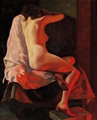 nude by firelight by henri fabien