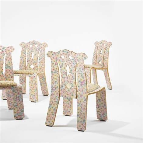 chippendale chairs (set of 4) by denise scott brown and robert venturi & Chippendale chairs set of 4 by Denise Scott Brown and Robert Venturi ...