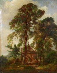 skogsdunge med paviljong by johann theodor goldstein