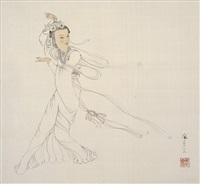 飛天 (dunhuang flying fairy) by pang xunqin