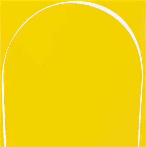 poured painting yellow white yellow by ian davenport
