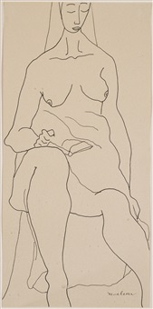 nude study by louise nevelson