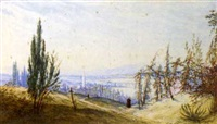 a distant view of the arno, florence, morning by john robert mather