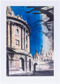 radcliffe camera (3 works) by john piper