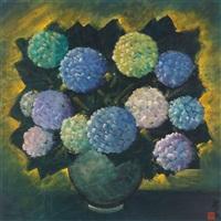 hydrangea by lin fengmian