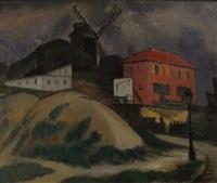 montmartre, le moulin de la galette by alfred dunet