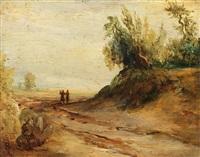 märkische landschaften (pair) by karl blechen