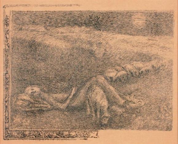 gardienne de moutons endormie by émile antoine bourdelle