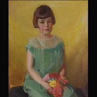 portrait of a young girl by iris miller