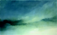 study for sky, white grey and green, no. 1 by chris langlois