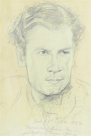 portrait of man by austin osman spare