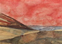 a stormy dartmoor landscape (+ 3 others; 4 works) by clifford fishwick