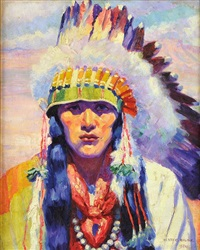 war chief of san ildefonso by henry balink