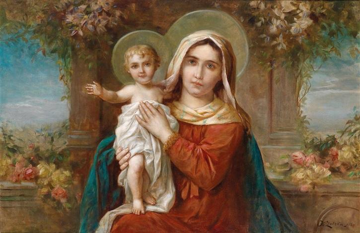 madonna mit dem jesuskind by hans zatzka