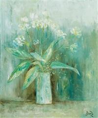 jarrón con flores by manuel baeza