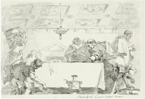 the clearing of the table after the last supper after sebastiano ricci by jean honoré fragonard