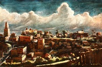 view of los angeles city hall from bunker hill by alexander ignatiev