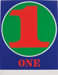 one (from numbers portfolio) by robert indiana