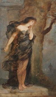 femme drapée à l'antique by andré charles voillemot