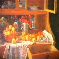 nature morte sur le buffet by mikhail v. chernyshev