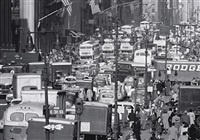 traffic on fifth avenue, new york by andreas feininger