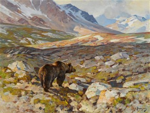 grizzly bear by carl clemens moritz rungius