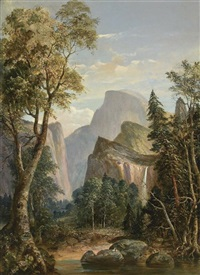 a view of yosemite by william smith jewett