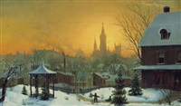 town in winter by mortimer l. smith