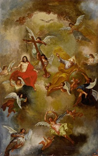die heilige dreifaltigkeit mit engeln by daniel gran