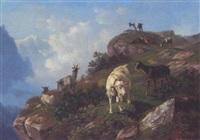 ziegen im hochgebirge by heinrich fischer