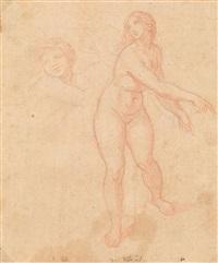 galatea, kopf eines putto, studie nach raffaels fresko