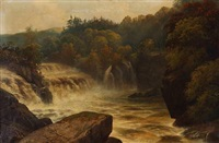 bonnongton fall on the clyde by h.r. hall